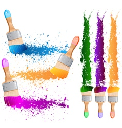 painting brushes vector image vector image