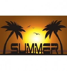 sunset typography vector image