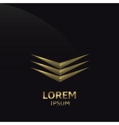 Abstract Golden logo vector image vector image