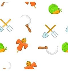 Animal farm pattern cartoon style vector image