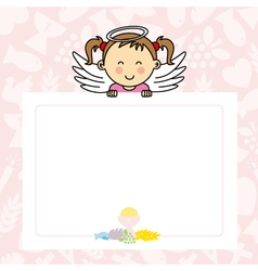 Baby girl with wings vector image vector image