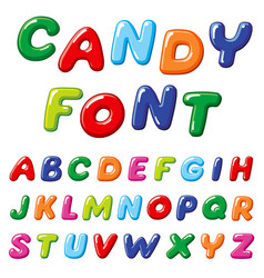 cartoon candy kids font rainbow funny vector image