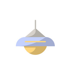 Lamp icon in flat style vector