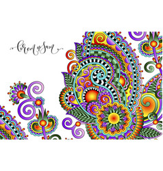 paisley flower pattern in ethnic style vector image vector image