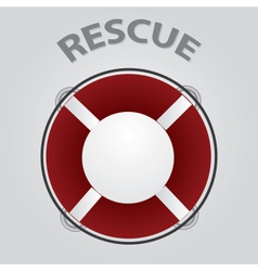 red rescue circle eps10 vector image vector image