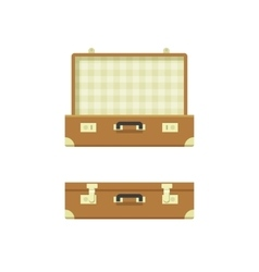 Suitcase open and closed vector image vector image