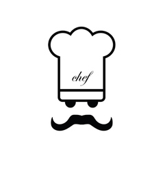 chef black and white vector image vector image