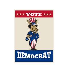 Democrat Donkey Mascot Thumbs Up Flag vector image vector image
