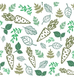 eco seamless hand drawn pattern Bio food organic vector image