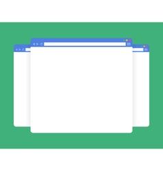 flat blank browser windows vector image vector image