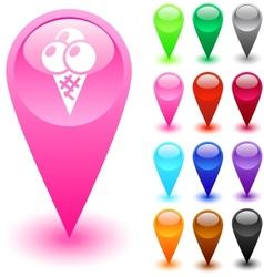Icecream button vector image vector image