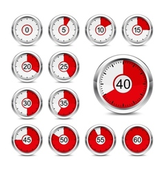 Icons timer vector image vector image