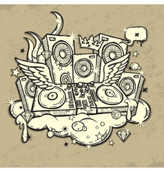 of music spirit vector image vector image