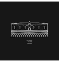 Rome Landmark Outline vector image