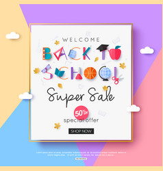 2018 back to school sale banner template vector