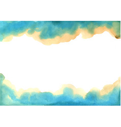 abstract brown and blue watercolor background vector image