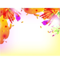 Abstract hand made watercolor splashes vector