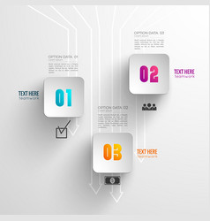 abstract light business infographic concept vector image