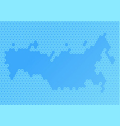 Abstract map composed hexagons vector