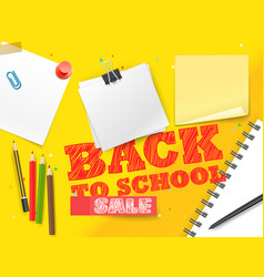 back to school sale lettering banner vector image