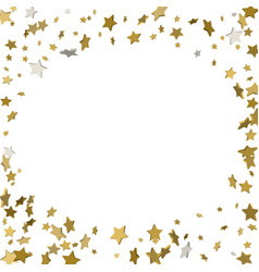 background with shiny gold stars golden confetti vector image