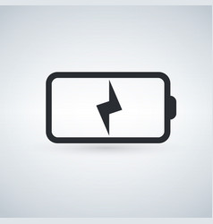 battery charging icon vector image