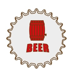 beer cap emblem icon image vector image