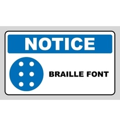 Braille icon simple style Blue mandatory symbol vector image
