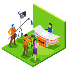 Broadcasting isometric composition vector