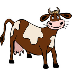 brown cow with spots vector image