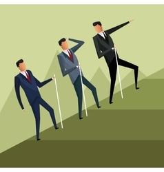 Business men team climb growth vector