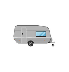 camping trailer isolated on white icon vector image