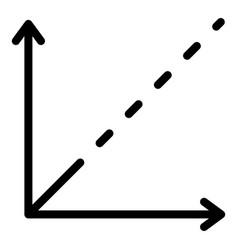 Cartesian axes icon outline style vector
