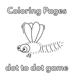cartoon dragonfly coloring book vector image