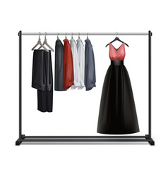 Clothes rack vector