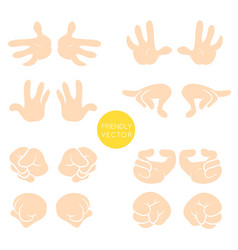 collection of wrist symbols isolated on vector image