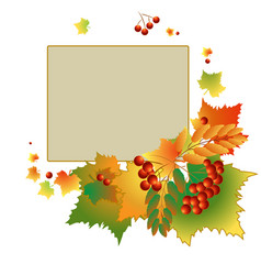 colorful autumn backdrop vector image