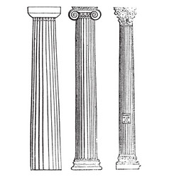 Columna fixed vintage engraving vector