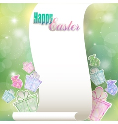 Congratulations to the holiday of Easter vector