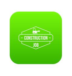 construction service icon green vector image