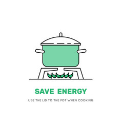Cooking pot on stove vector