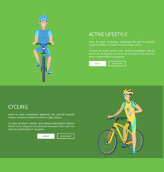 cycling and active lifestyle vector image