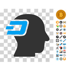 Dash imagination icon with bonus vector