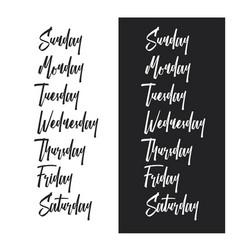 Days week typography set vintage vector