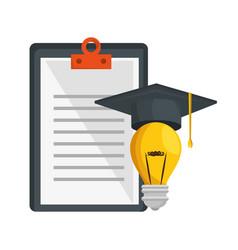 Education concept elements icon vector
