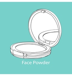 face powder vector image