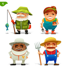 Farm professions set-1 vector