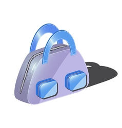 fashionable bag with two pockets for woman vector image vector image