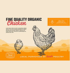 Fine quality organic poultry abstract meat vector