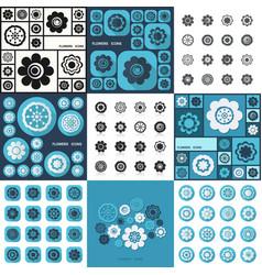 Flat concept set modern design flower vector